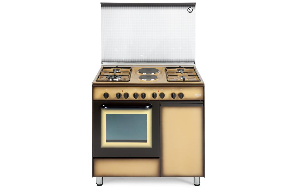 Cucina de longhi demk 9642 b 4 fuochi forno elettrico for Forno elettrico da appoggio