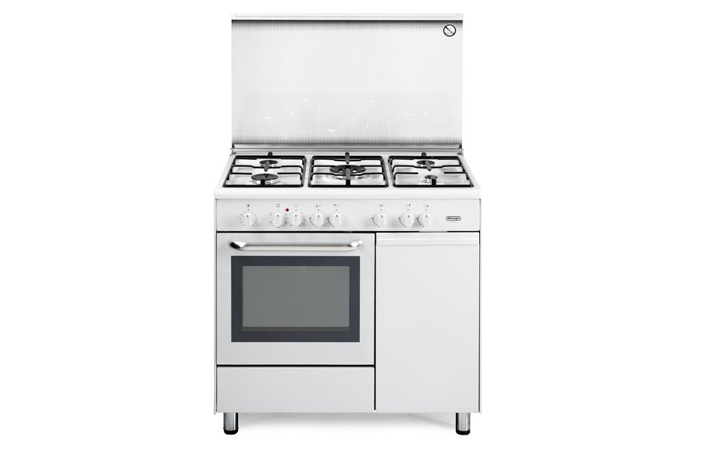 Cucina de longhi demw 965 b 5 fuochi forno elettrico - Delonghi cucina a gas ...
