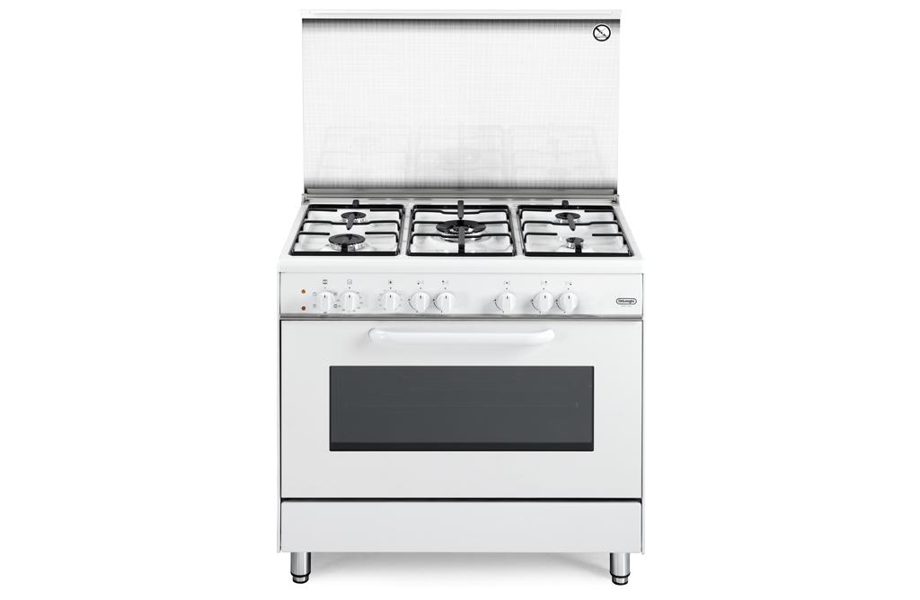 Cucina de longhi demw 965 5 fuochi forno elettrico bianca - De longhi cucine modelli ...