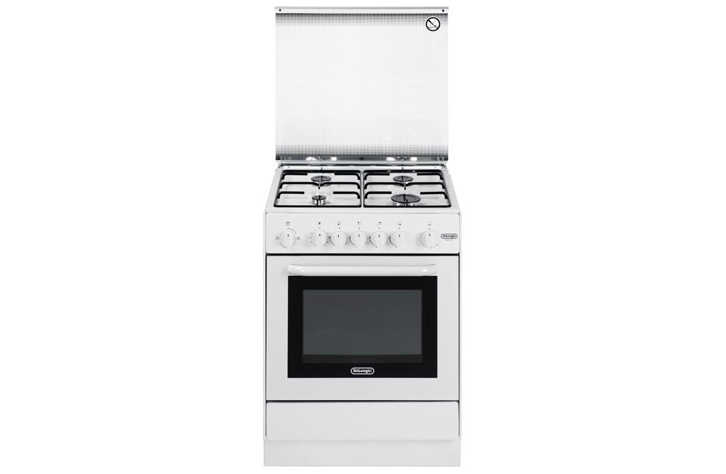 Cucina de longhi dgw 654 4 fuochi forno a gas colore - Delonghi cucina a gas ...