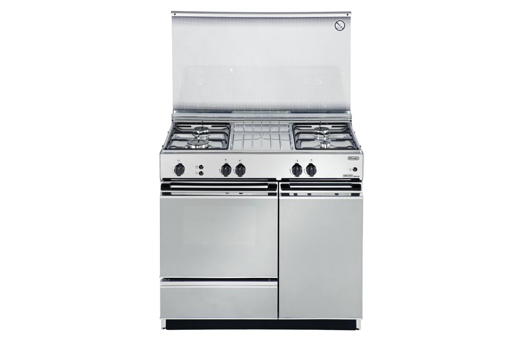 Cucina de longhi sggx 854 4 fuochi forno a gas colore inox - Delonghi cucina a gas ...