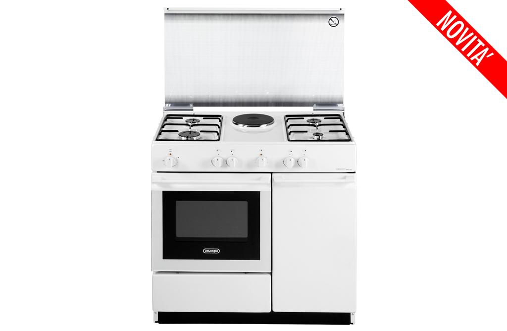 Cucina de longhi sew 8541n 4 fuochi 1 piastra elet forno elettrico colore bianco ebay - Cucina elettrica de longhi ...