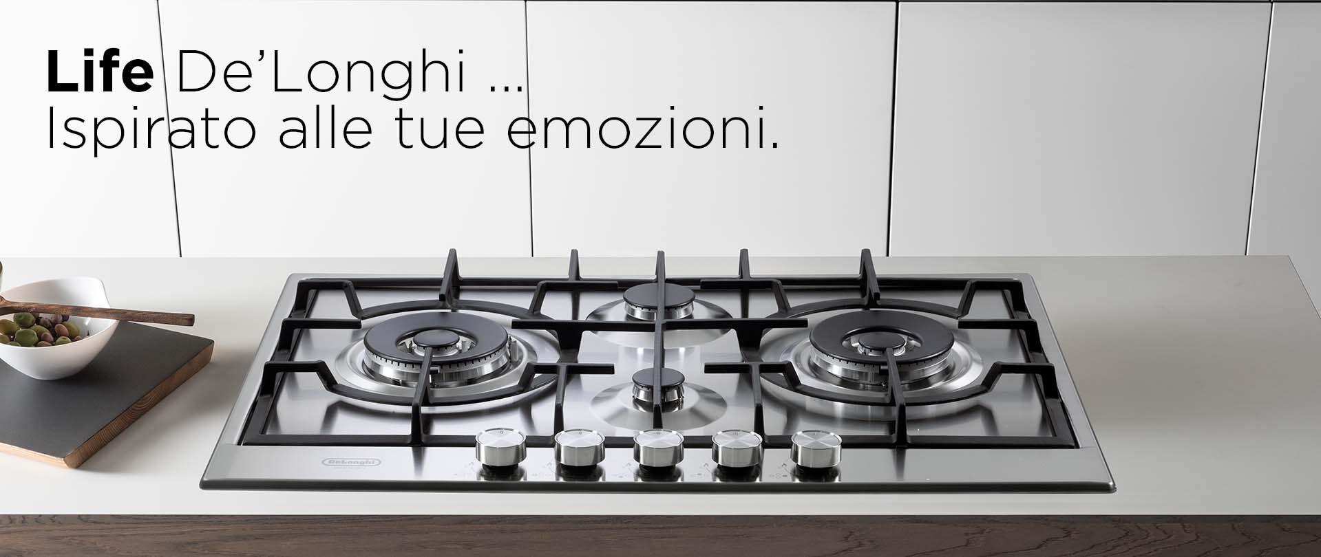 Nuova Linea Life De'Longhi – Piani cottura in acciaio inox